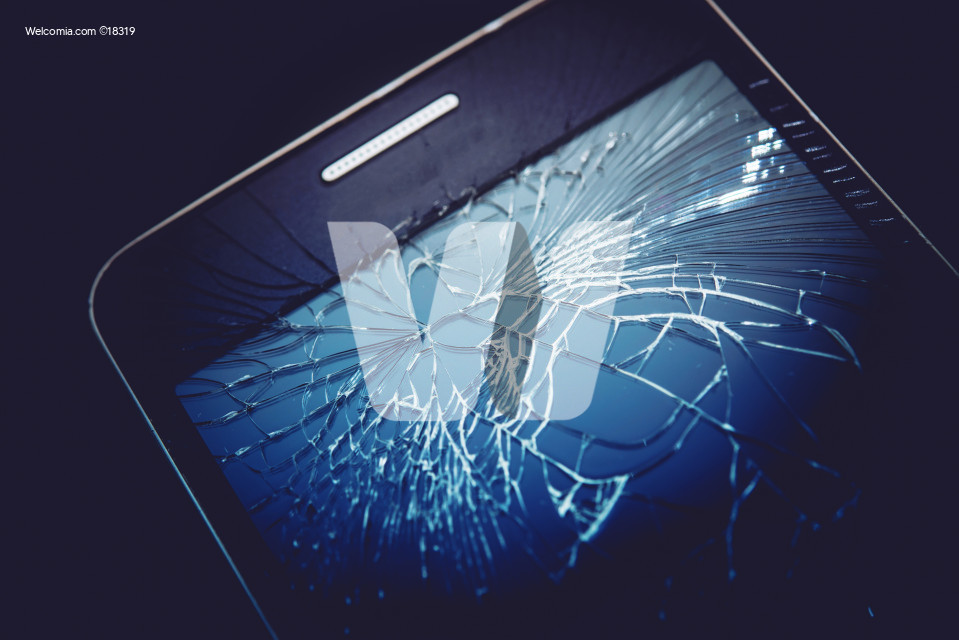 Damaged Smartphone Display
