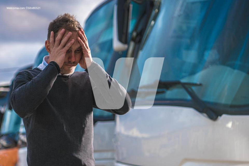 Devastated and Frustrated Transportation Business Owner During Lockdown