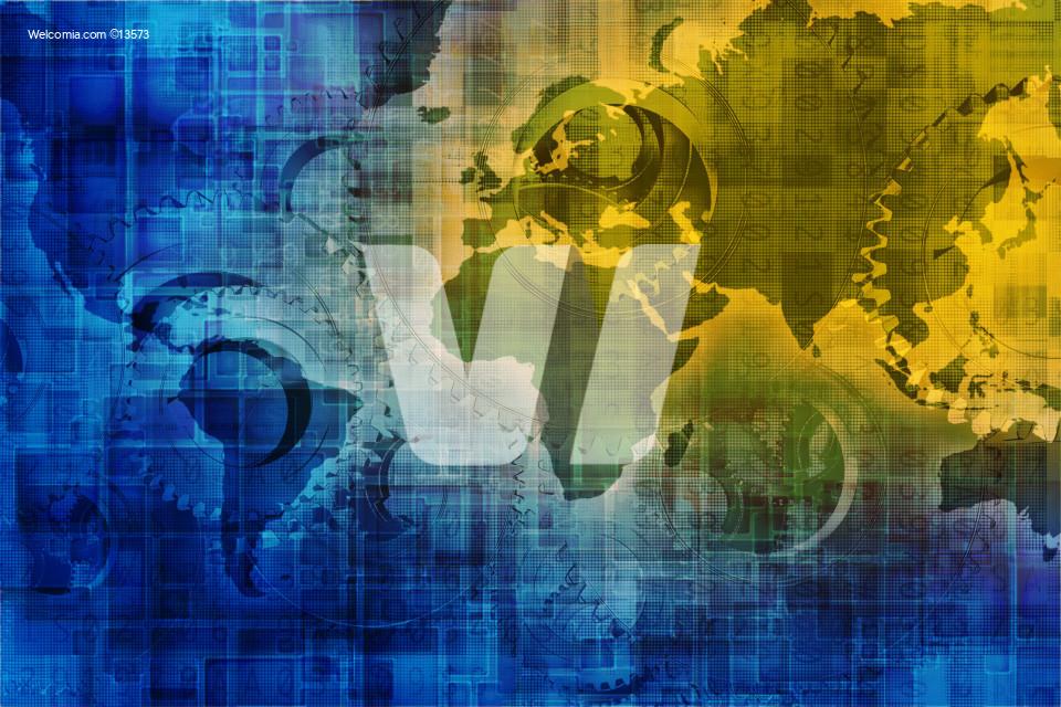 Digital World Background Concept Internet Background with World Map and Digital Overlay Background.