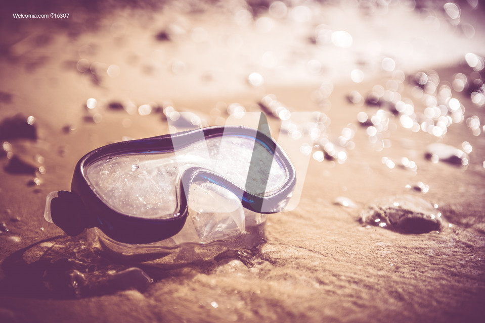 Diving Mask on a Beach