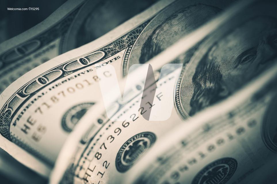 Dollars Closeup Concept