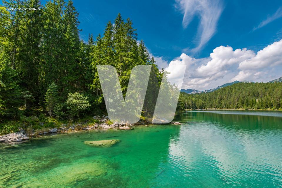 Eibsee Lake in Bavaria Germany