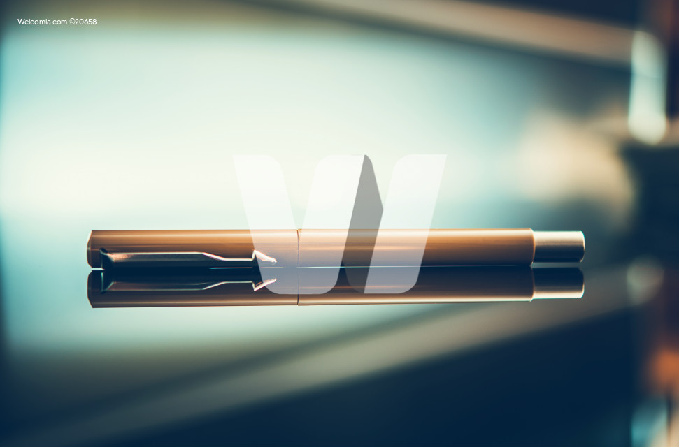 Elegant Pen on Glassy Desk