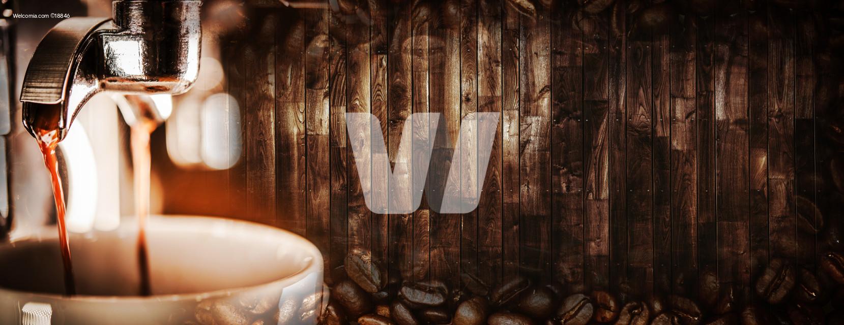 Espresso Coffee Wooden Banner