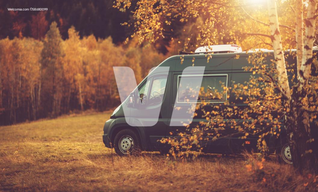 Fall Foliage RV Camper Van Road Trip