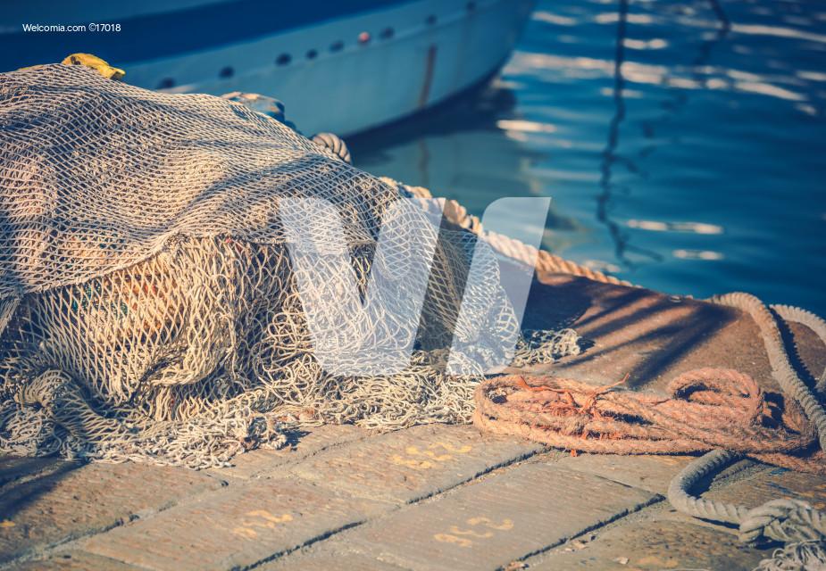 Fishing Nets in the Marina
