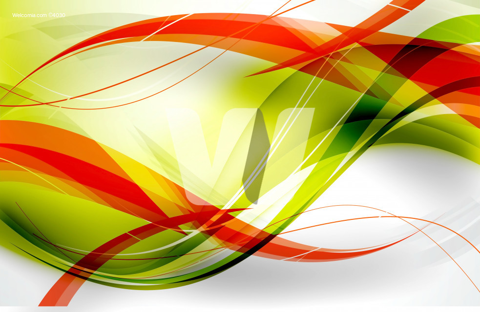 Fluo Red Green Abstract Wavy Background Design.