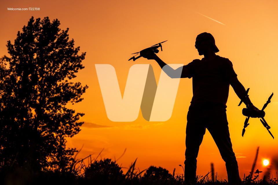 Fly Field Drone Flying