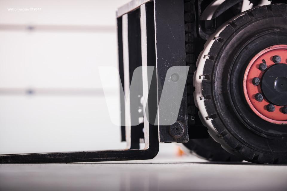 Forklift Truck Closeup