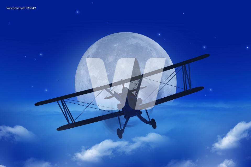 Full Moon Airplane Getaway