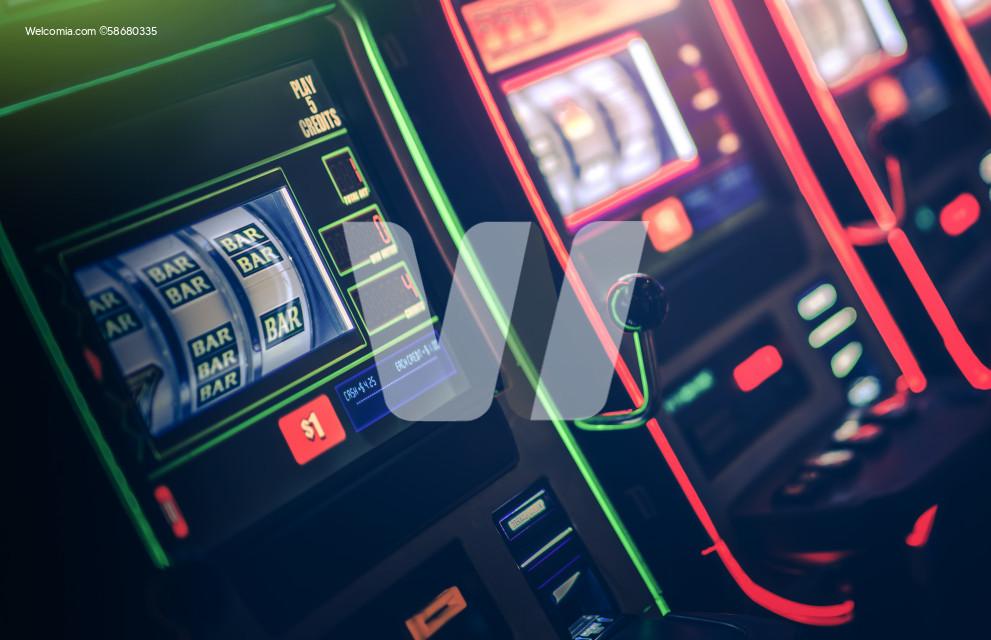 Gambling Slot Machine in the Casino