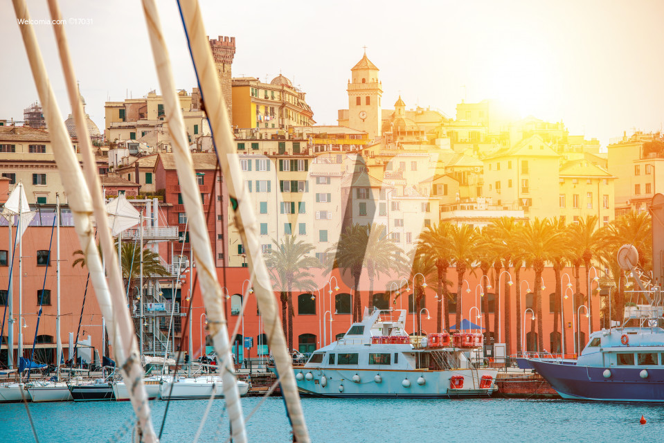 Genua Harbour Northern Italy