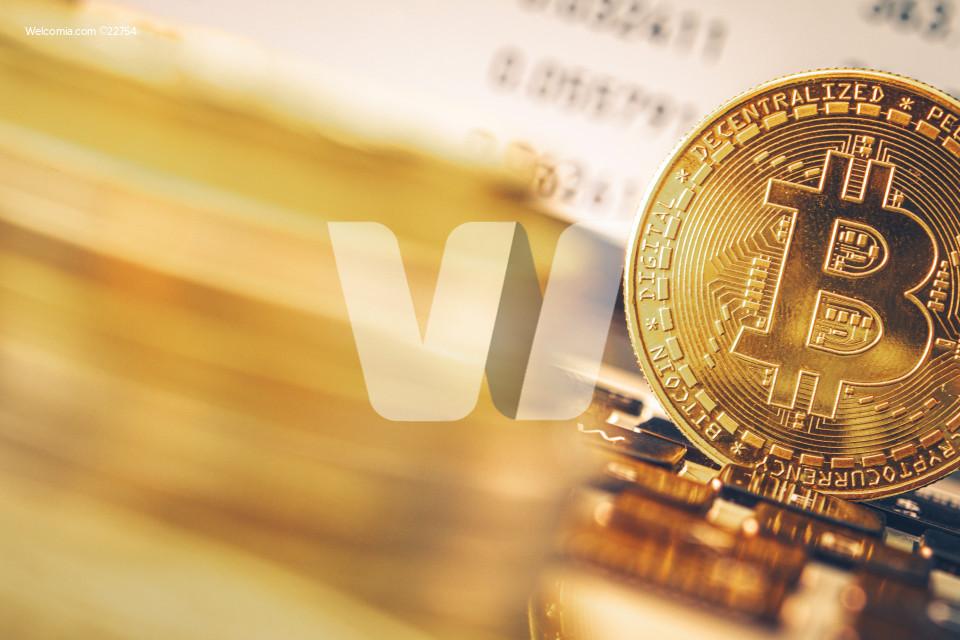 Golden Bitcoin Coin Concept