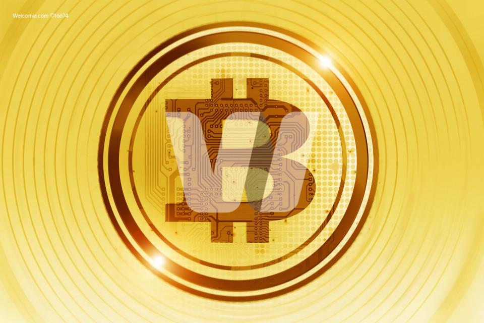 Golden Bitcoin Concept