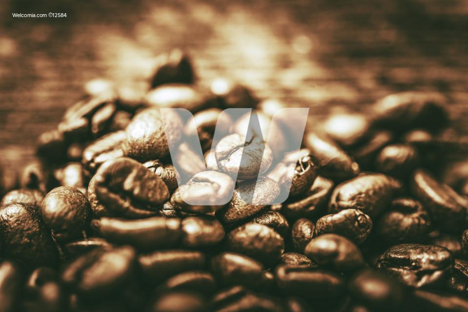 Golden Coffee Beans