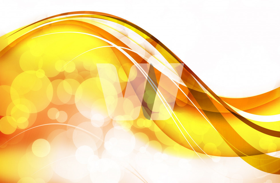 Abstract Background: Golden Wavy Bokeh Design.