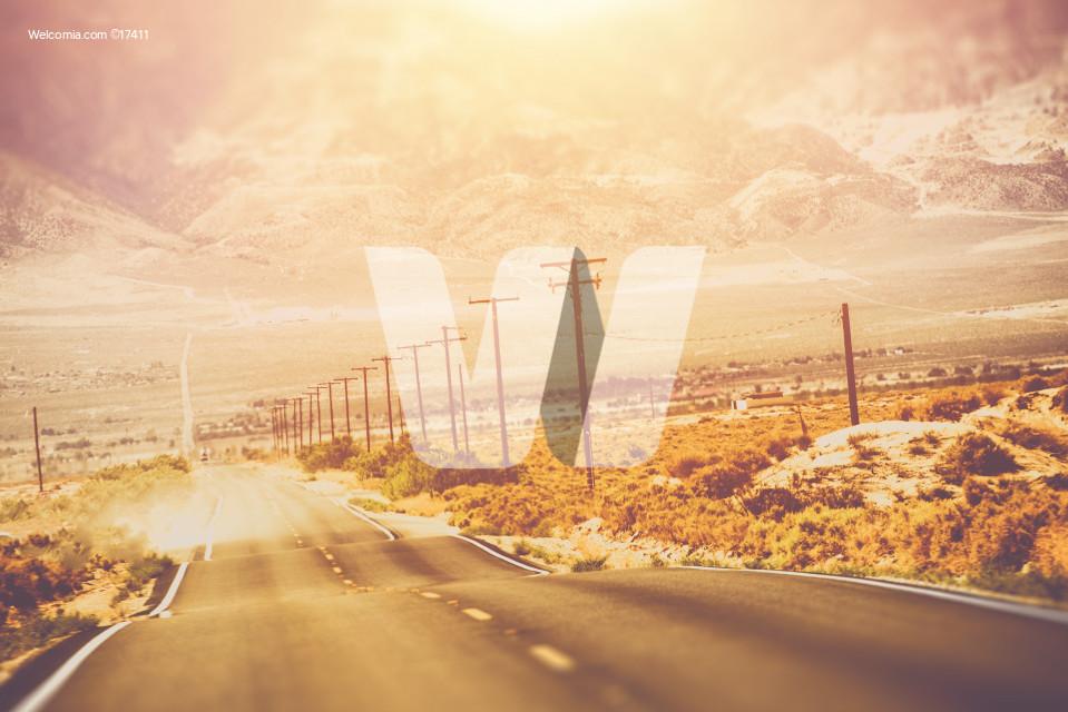 Hot Day Desert Road