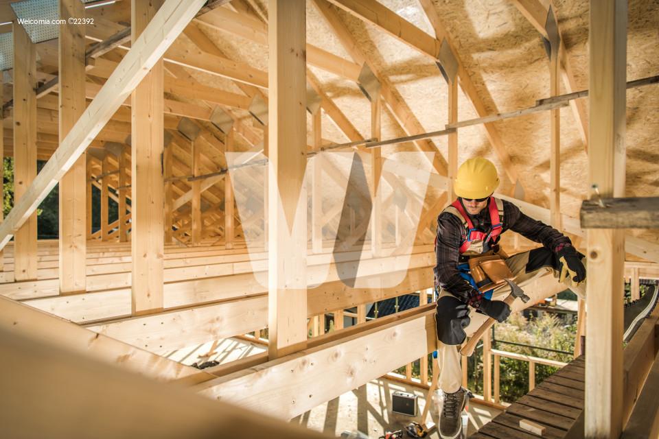 House Wooden Roof Skeleton