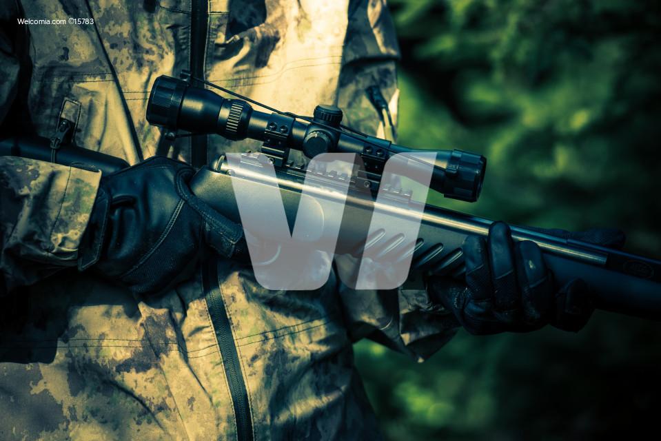 Hunter Rifle Closeup