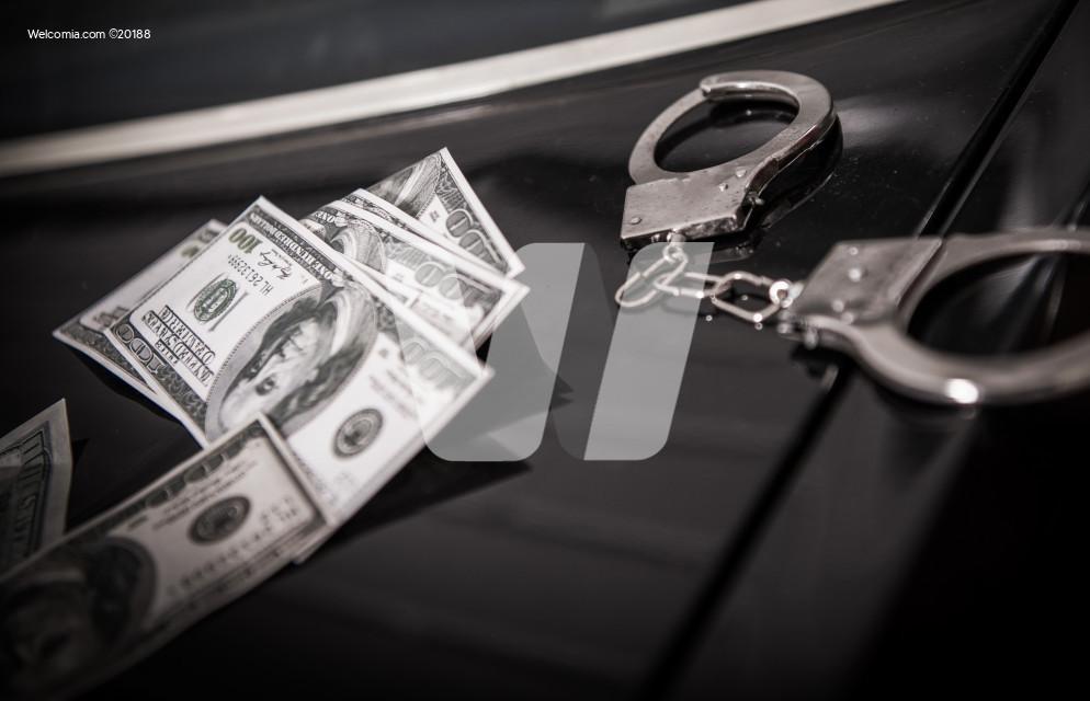 Illegal Money Crime Concept
