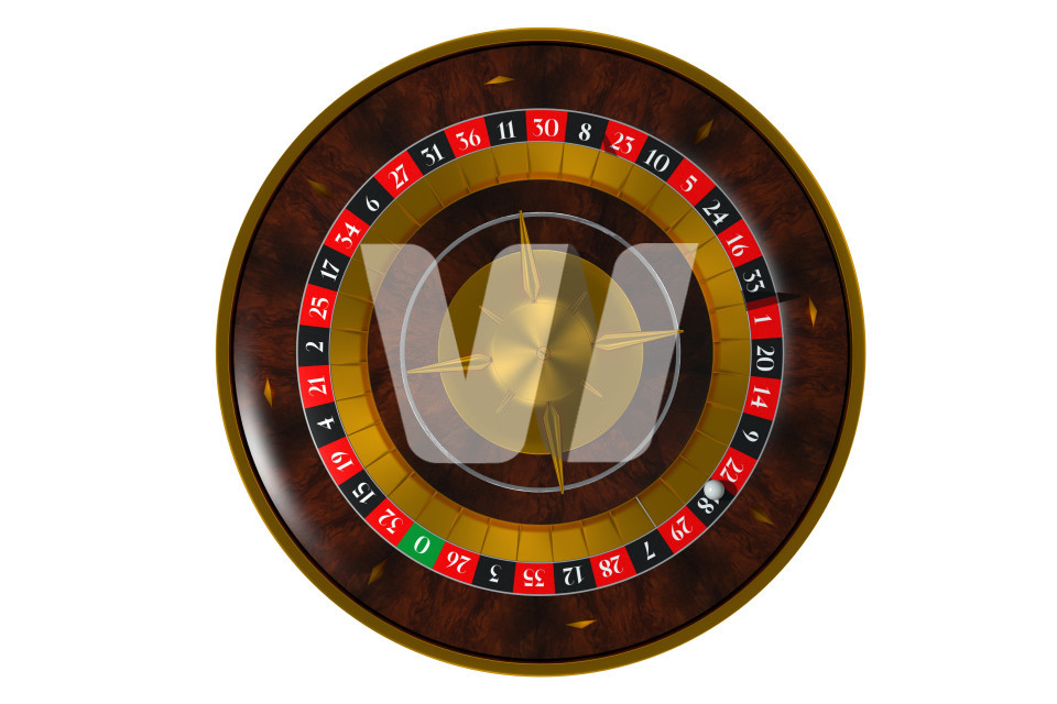 Isolated 3D Roulette Wheel