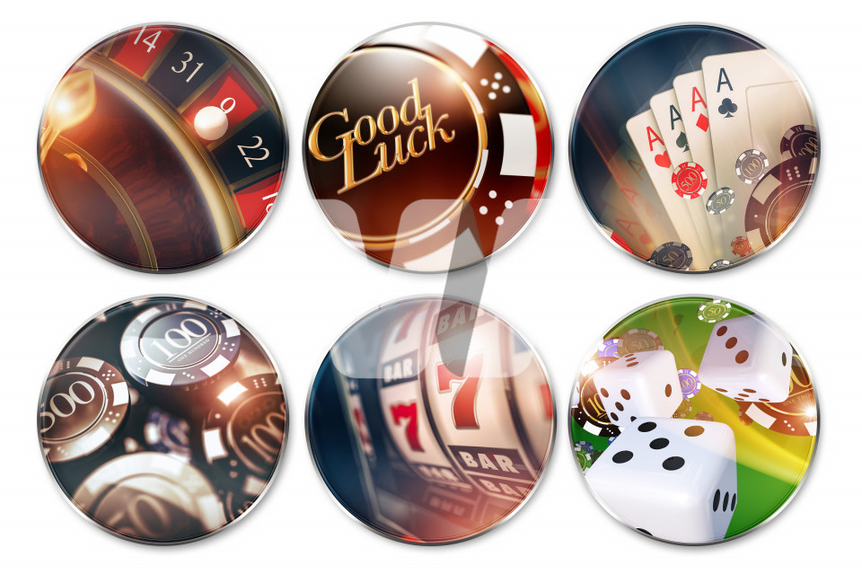 Isolated Casino Badges