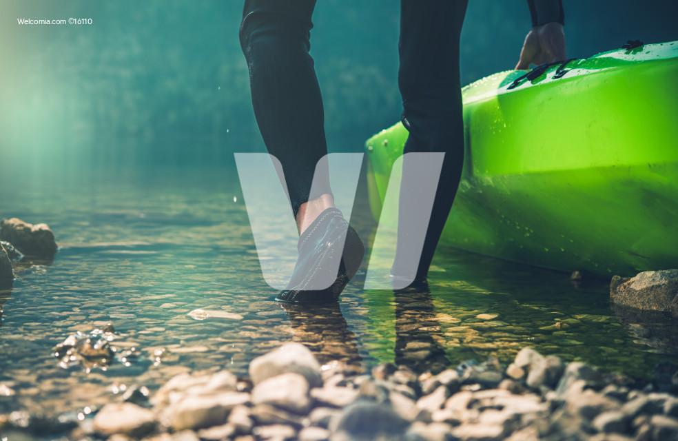 Kayak Lunching Closeup