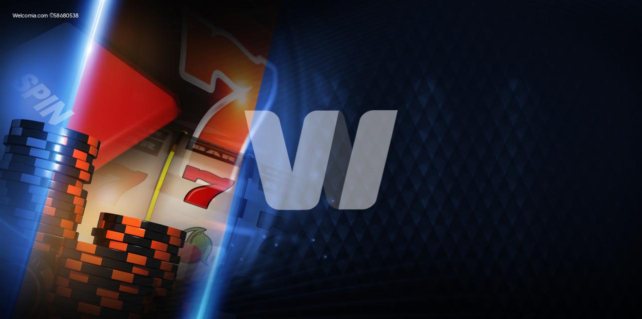 Vegas Slot Machine Gambling Concept Banner
