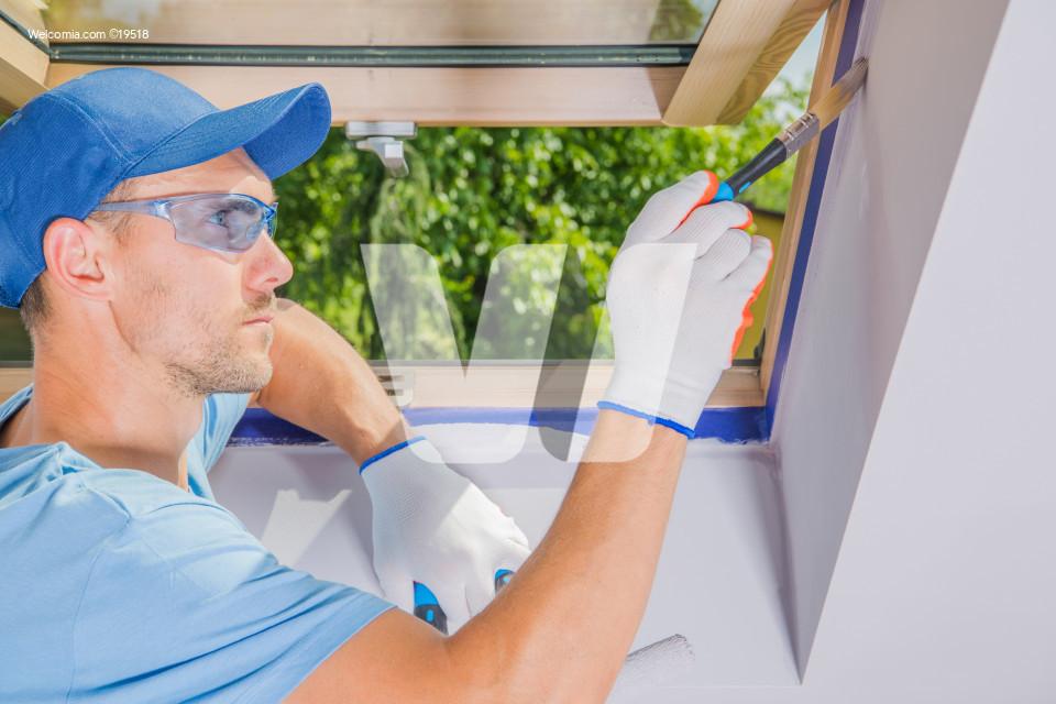 Men Painting His Room