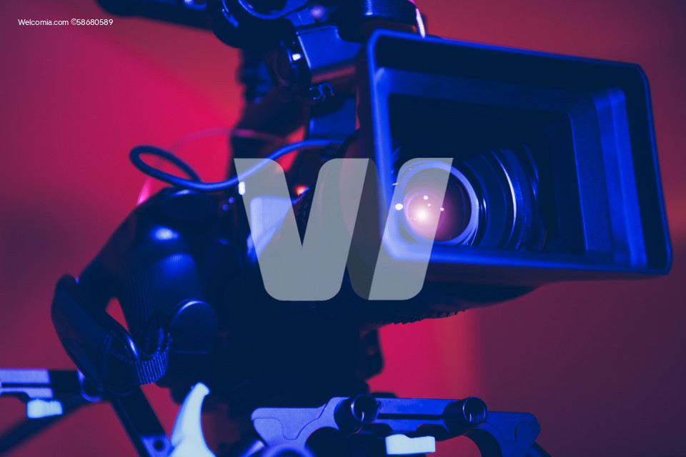 Modern Digital Cinema Camera Close Up