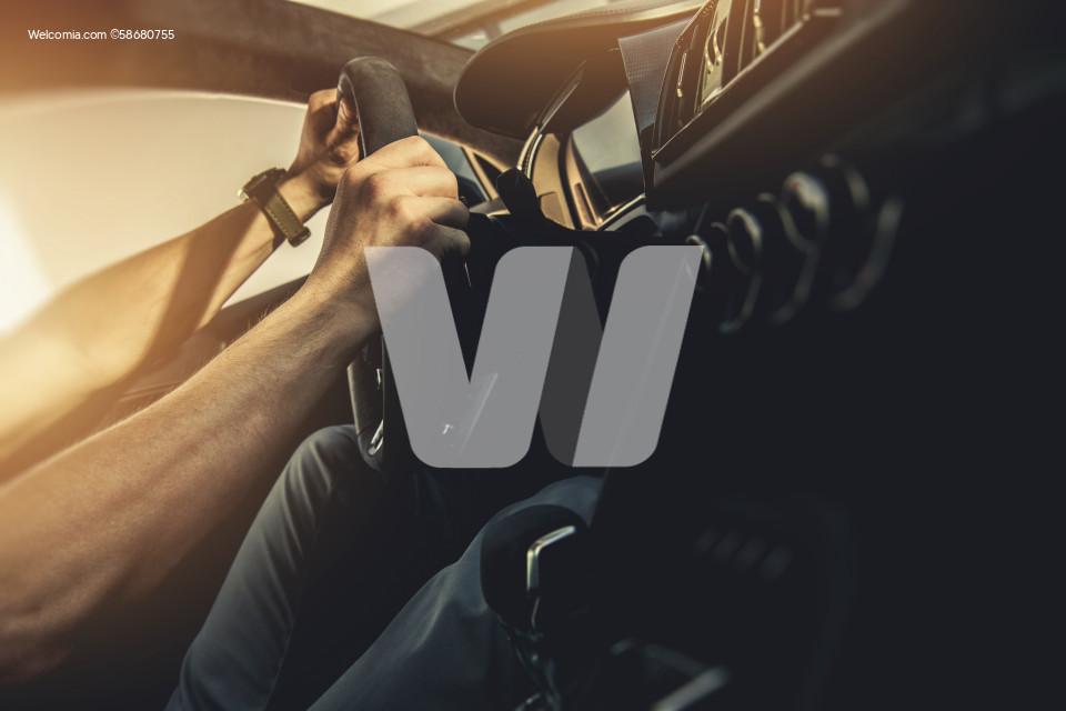Modern Performance Car Driver