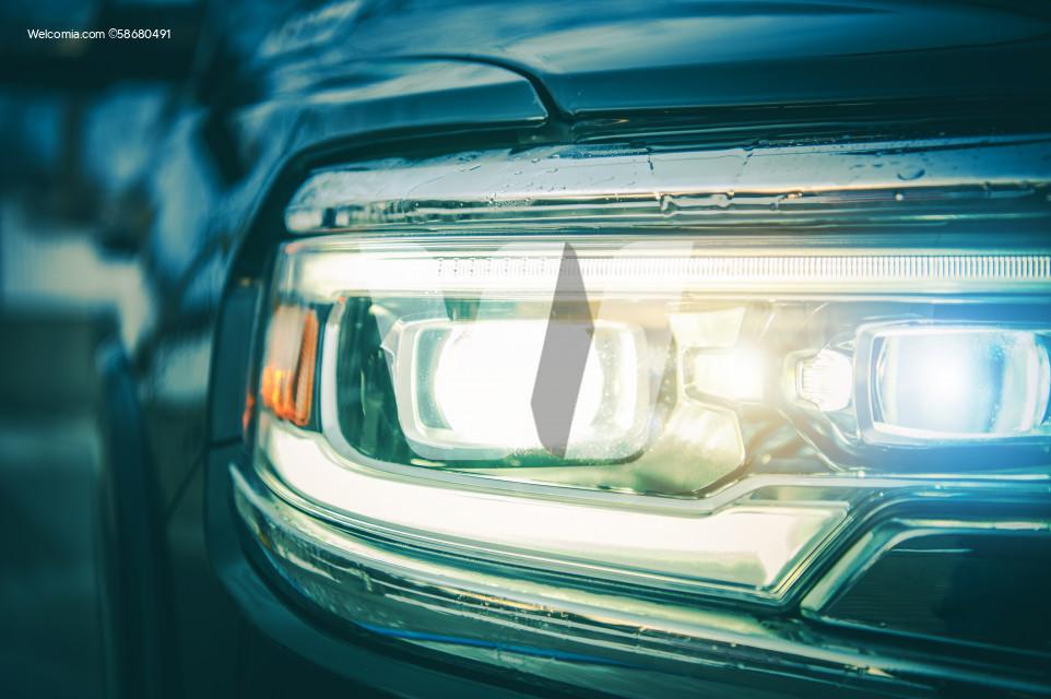 Modern Vehicle Front LED and Laser Lights