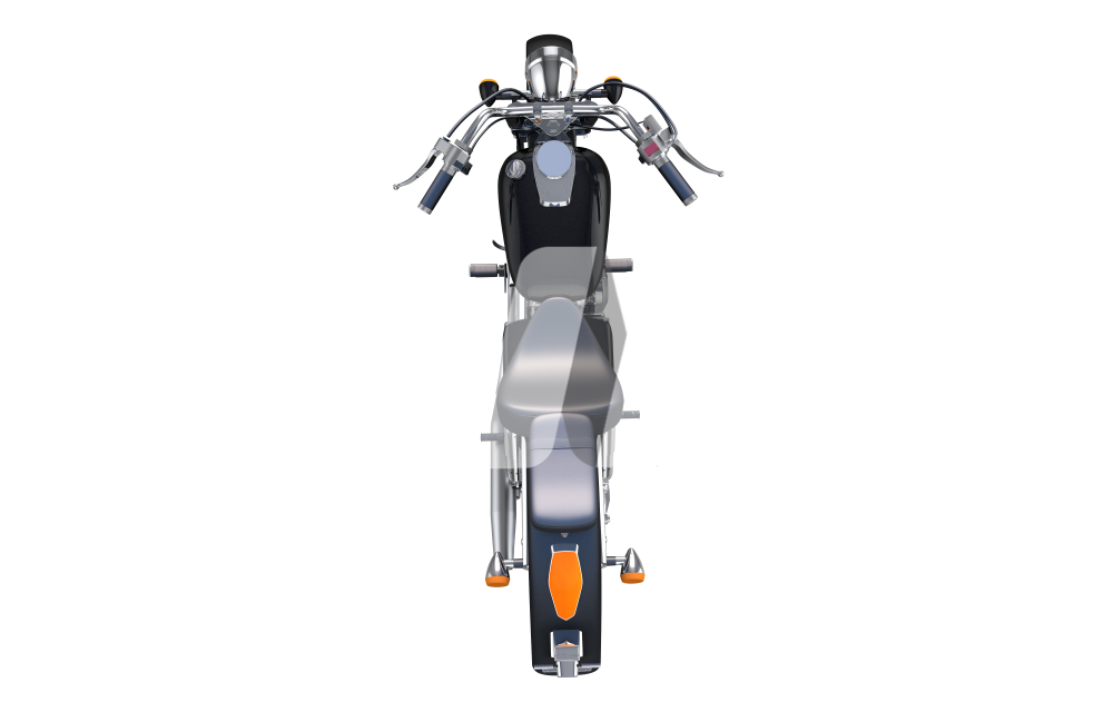 Motorcycle From Above PNG Illustration