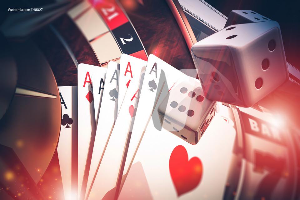 Multi Casino Games Concept