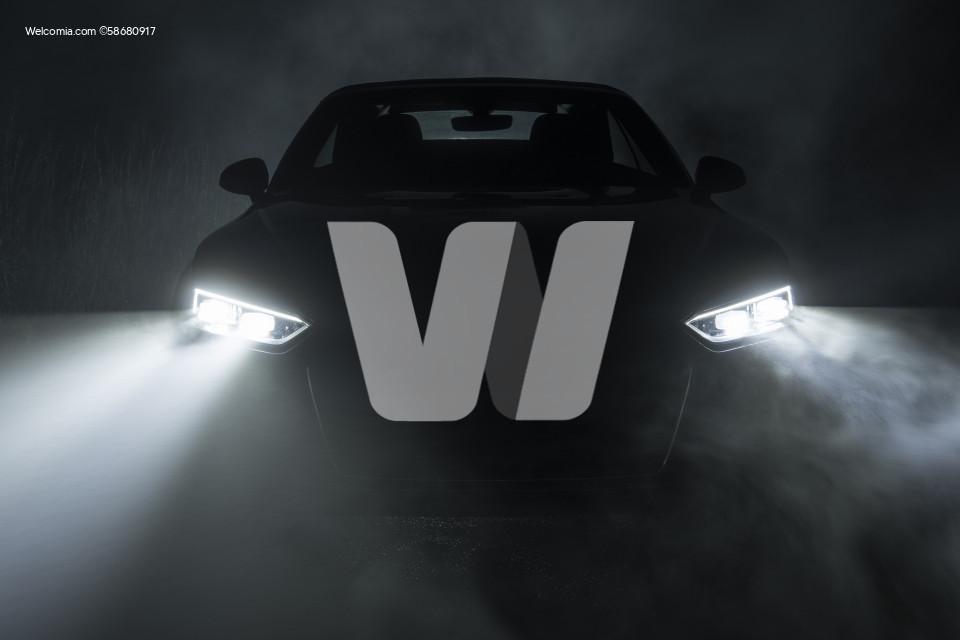 Night Drive in Dense Fog