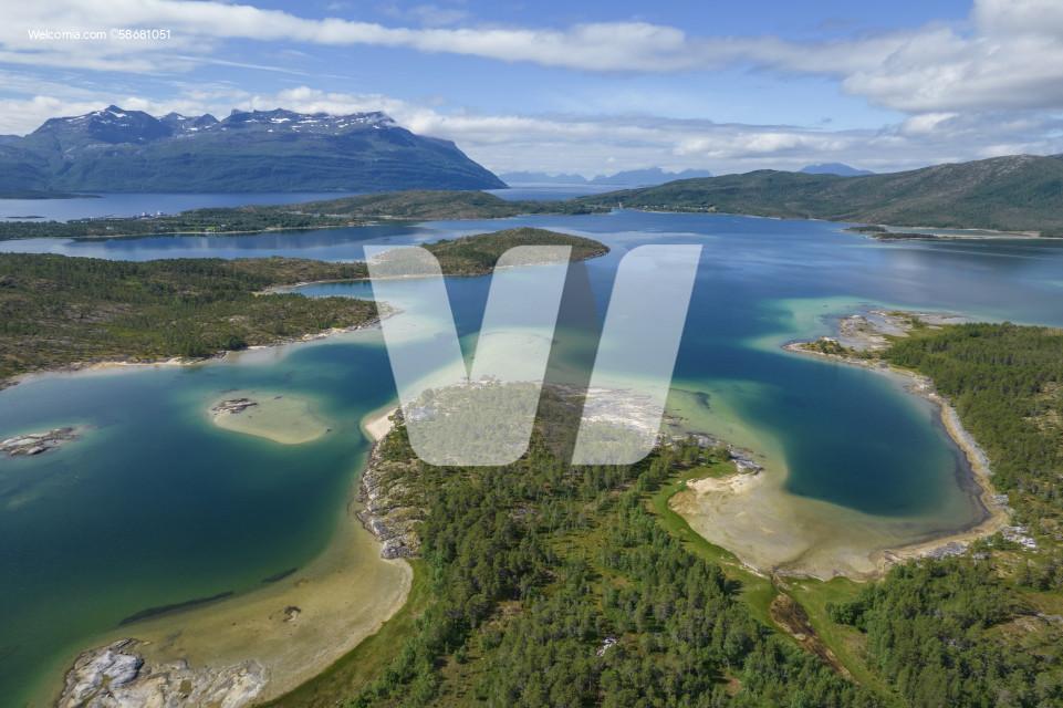 Nordland Northern Norway Landscape Aerial