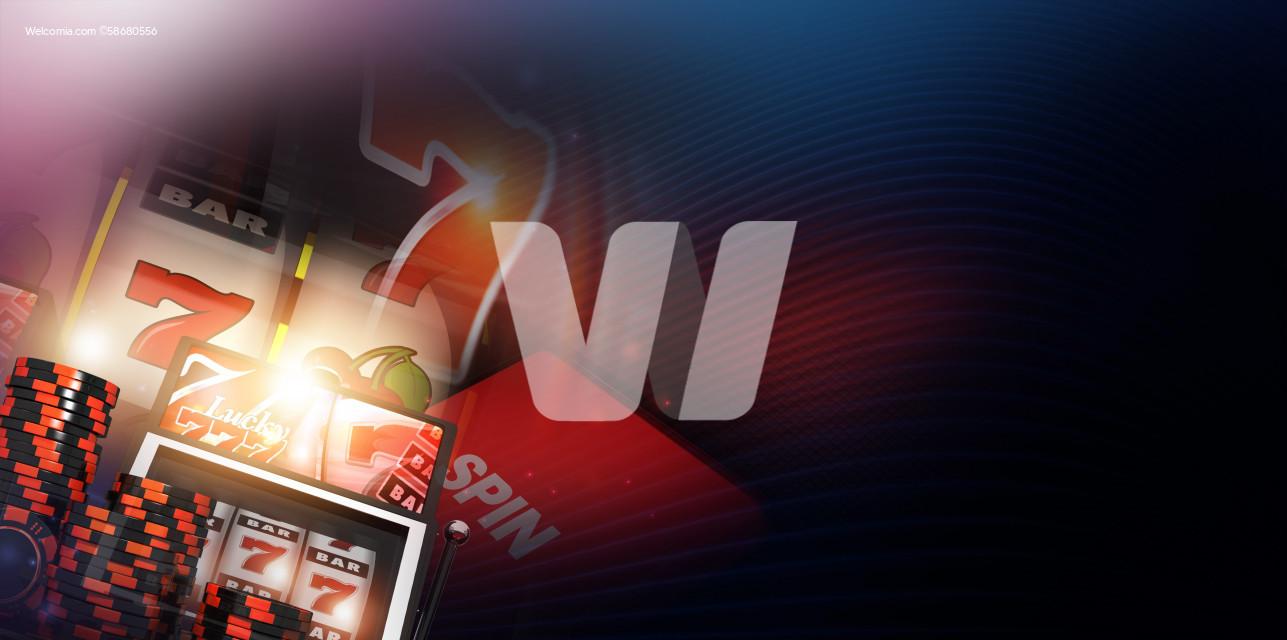 Slot Machine Concept Banner 3D Illustration