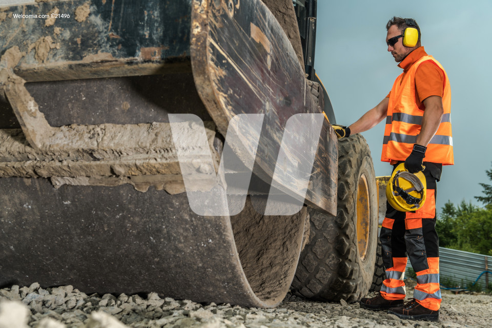 Operating Road Roller