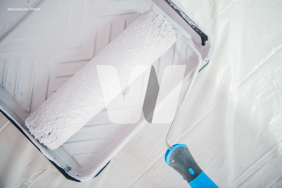 Painting Roller in the Container