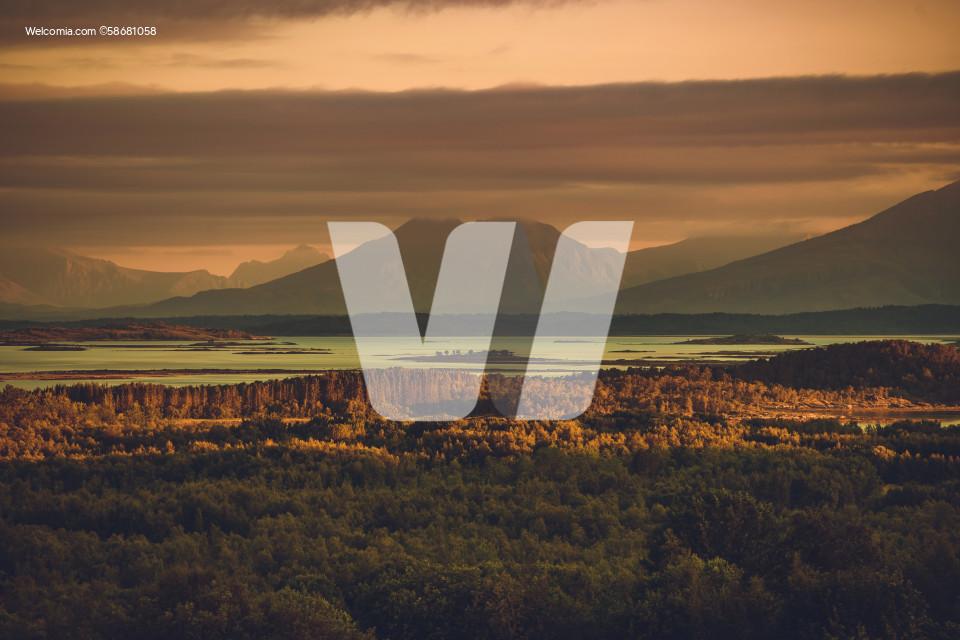Panoramic Scenic Wilderness of the Nordland, Norway