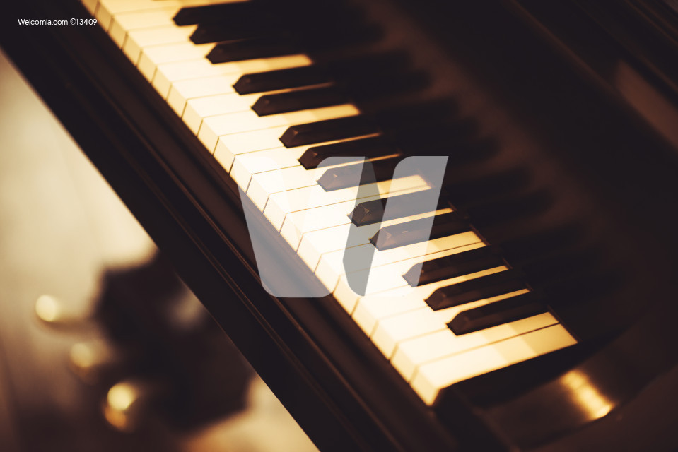 Piano Closeup. Modern Piano Instrument.