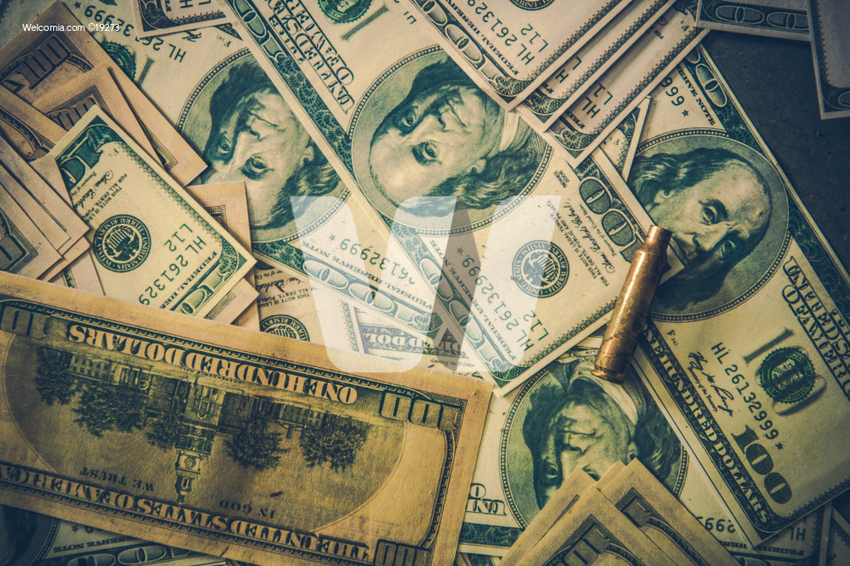 Pile of Dirty Dollars Money