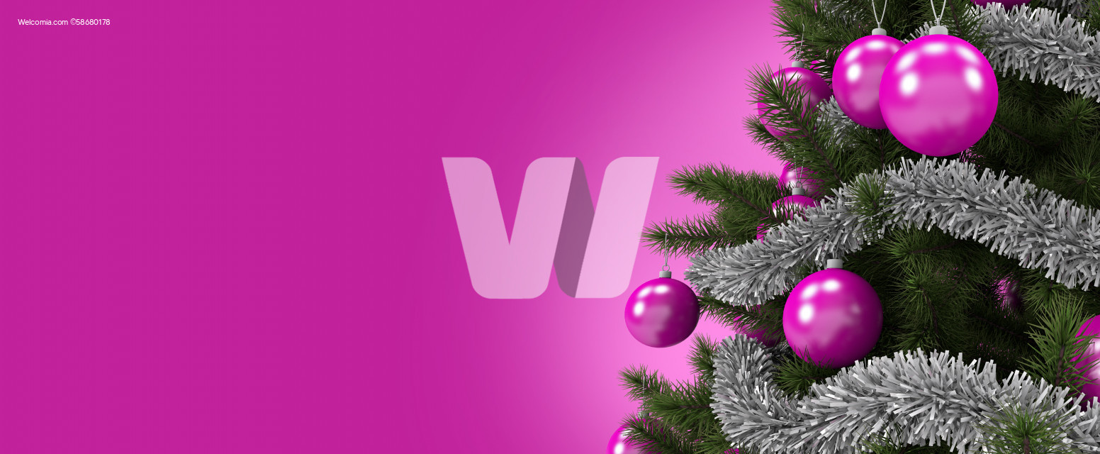 Pink Christmas Tree Holidays Background