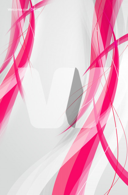 Pink Wavy Background - Gray Background. Vertical Background.