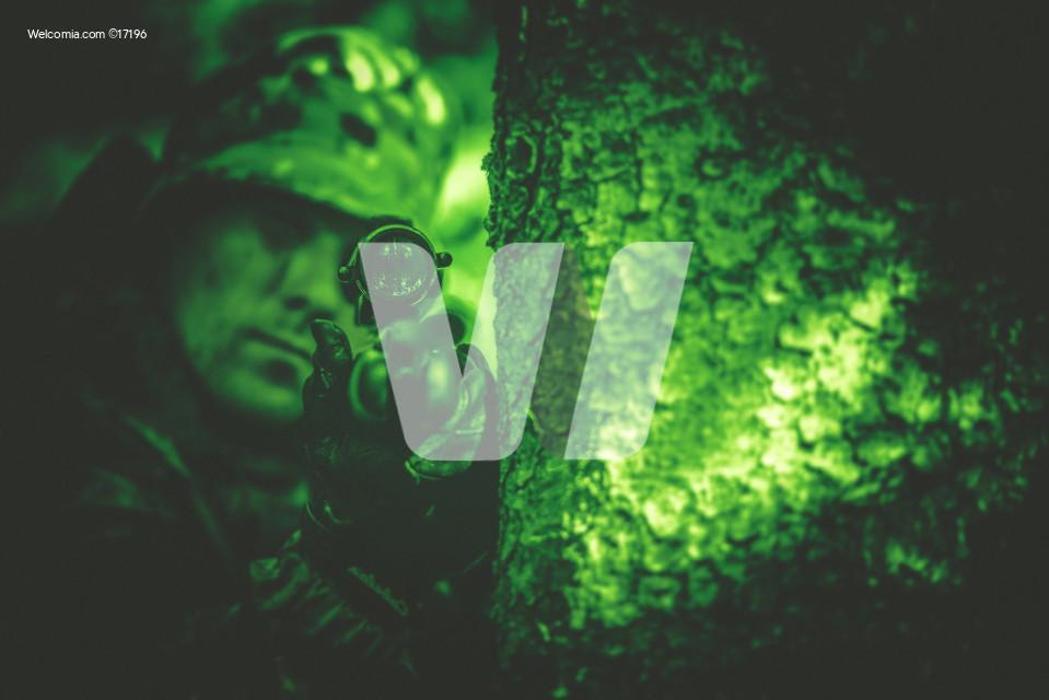 Poacher in Night Vision