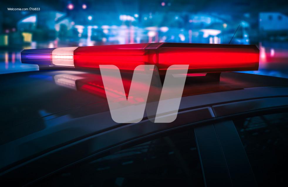 Police Flashing Roof Lights