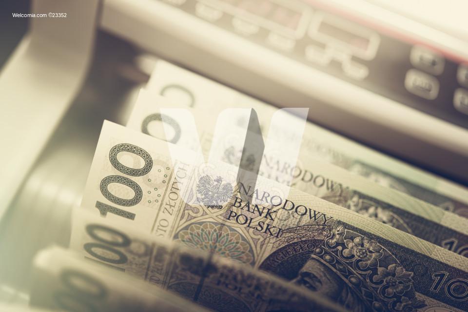 Polish Zloty Inside Banknotes Counter