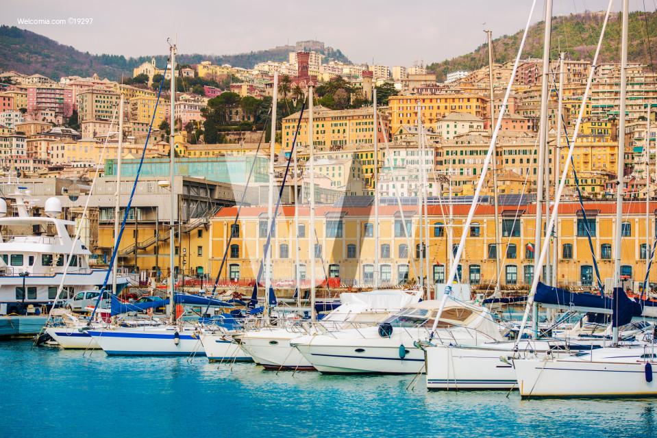 Port of Genoa Italy