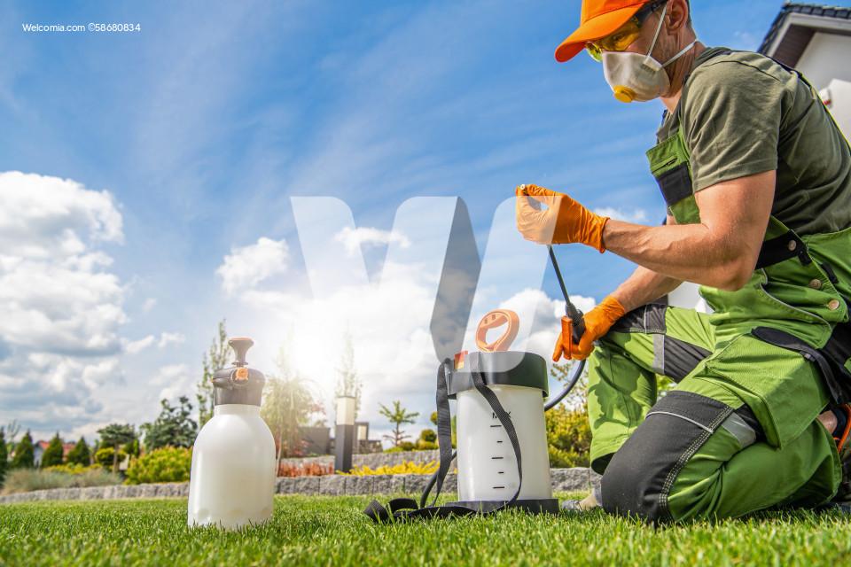 Preparing Pest Control Spraying Equipment