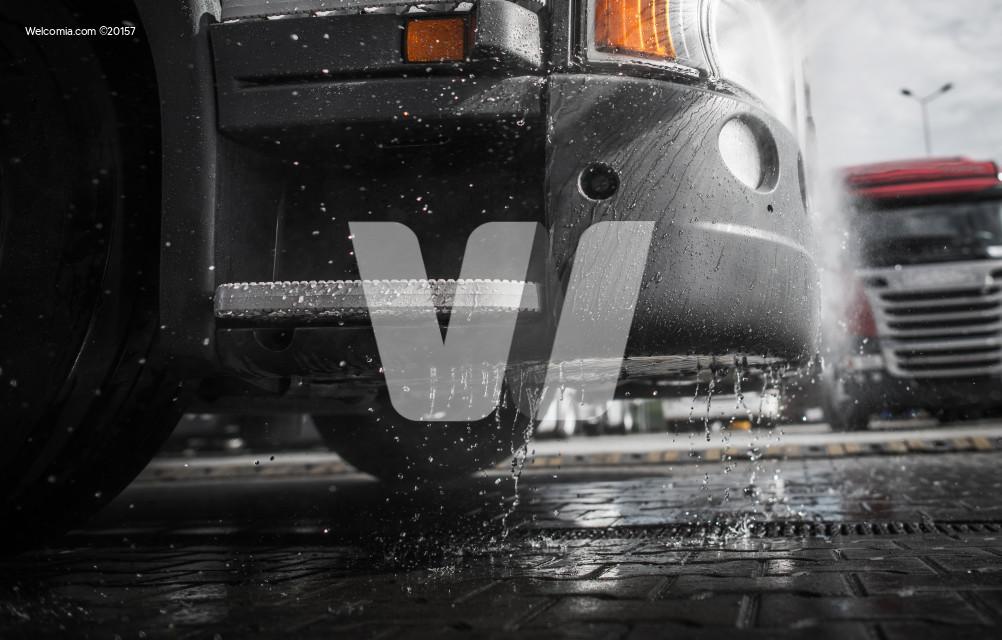 Pressure Washing the Truck